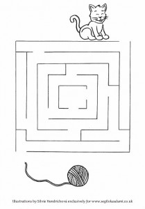 Cat Maze - Downloadable illustrations for children