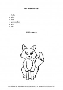 Fox anagram Illustrated word games