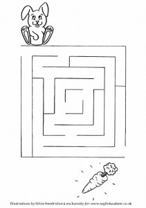 Rabbit Maze - Downloadable illustrations for children