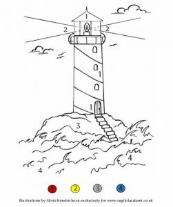 Lighthouse coloring Pirate illustrations for children