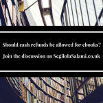 Should cash refunds be allowed for ebooks?