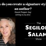 How do you create a signature style as an author?