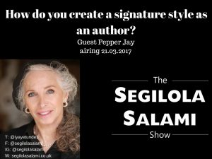 How do you create a signature style as an author? with pepper jay