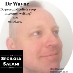 Do personal beliefs seep into one's writing?