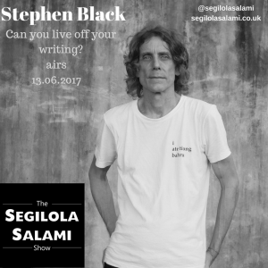 Can you live off your writing? stephen black