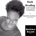 Book reading K MY NAME IS KENDRA by Kamichi Jackson