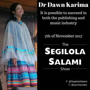 It is possible to succeed in both the publishing and music industry with dr dawn karima