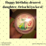 Happy birthday dearest daughter, Orisa bi iya ko si!