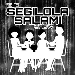 About Segilola Salami | The Segilola Salami Show, a virtual cafe podcast, banner image, podcast on books and publishing