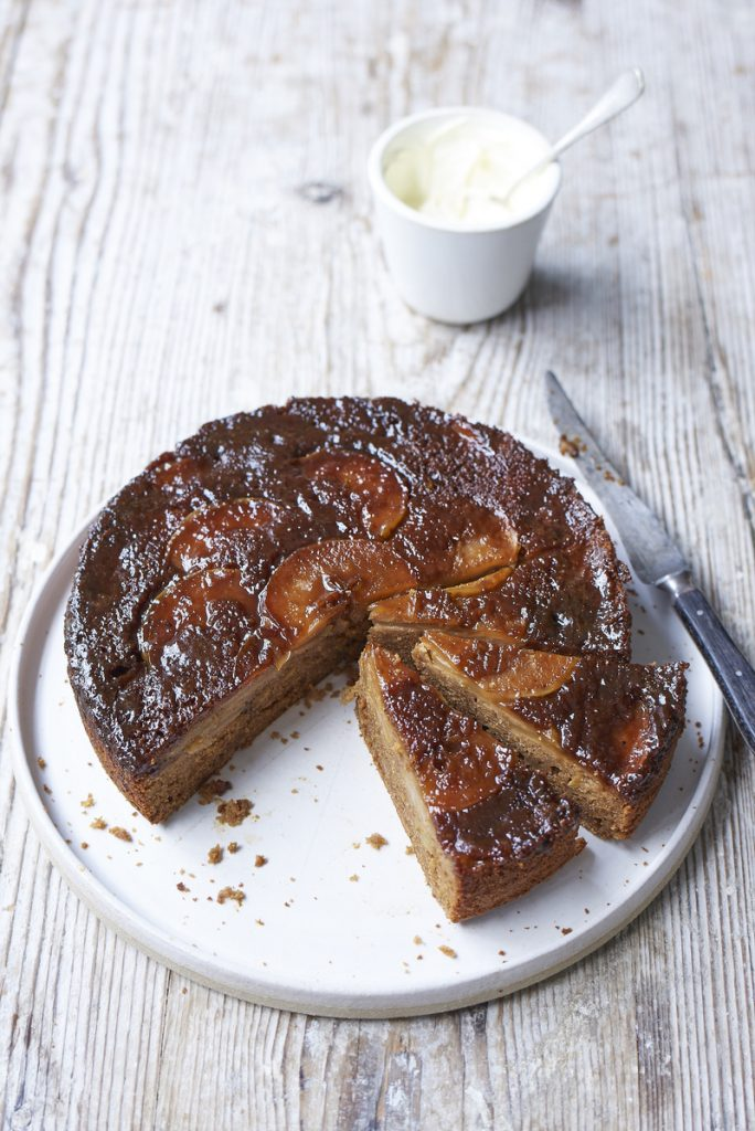 recipe recommendation upside down sticky apple cake the groovy food company