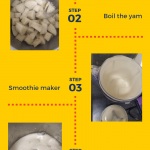 How to make pounded yam using a smoothie maker