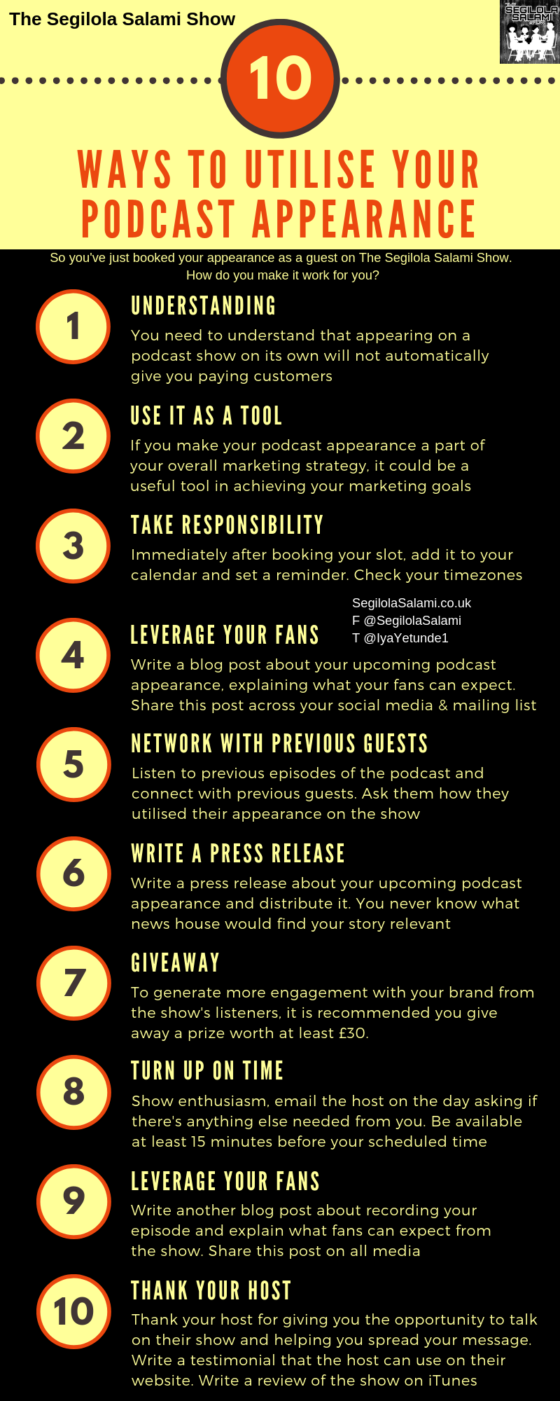 INFOGRAPHIC: 10 Ways to Utilise your Podcast Appearance