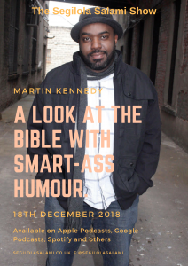 Martin Kennedy: A look at the bible with smart-ass humour slathered in sarcasm