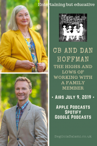 blog podcast cover art image CB and Dan Hoffman: The highs and lows of working with a family member poster