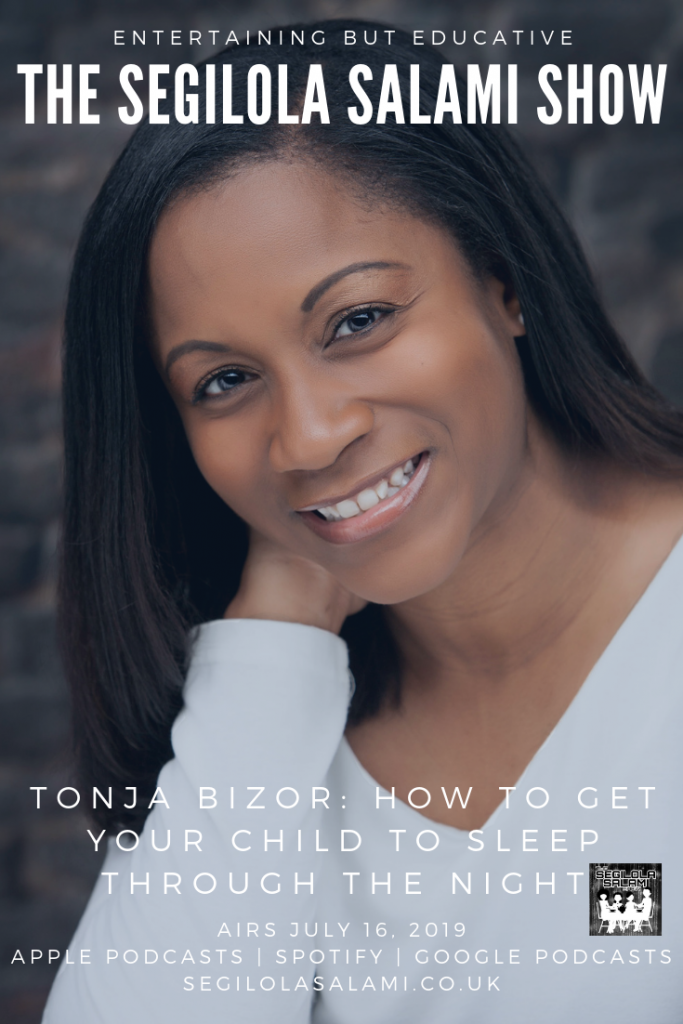 blog post podcast episode banner poster Tonja Bizor How To Get Your Child To Sleep Through The Night