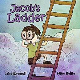 book cover from children's picture book Jacob's Ladder by author Jake Evanoff