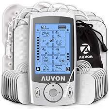 "Blog podcast giveaway prize AUVON Dual Channel TENS Machine for Pain Relief, TENS Unit Muscle Stimulator with 20 Modes, 2"" and 2""x4"" TENS Pads Replacement"