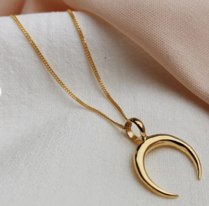 blog post Crescent Moon Necklace by Wolf and Gypsy