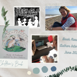 podcast interview with Molly Arbuthnott reading of children's book oscar the ferry cat