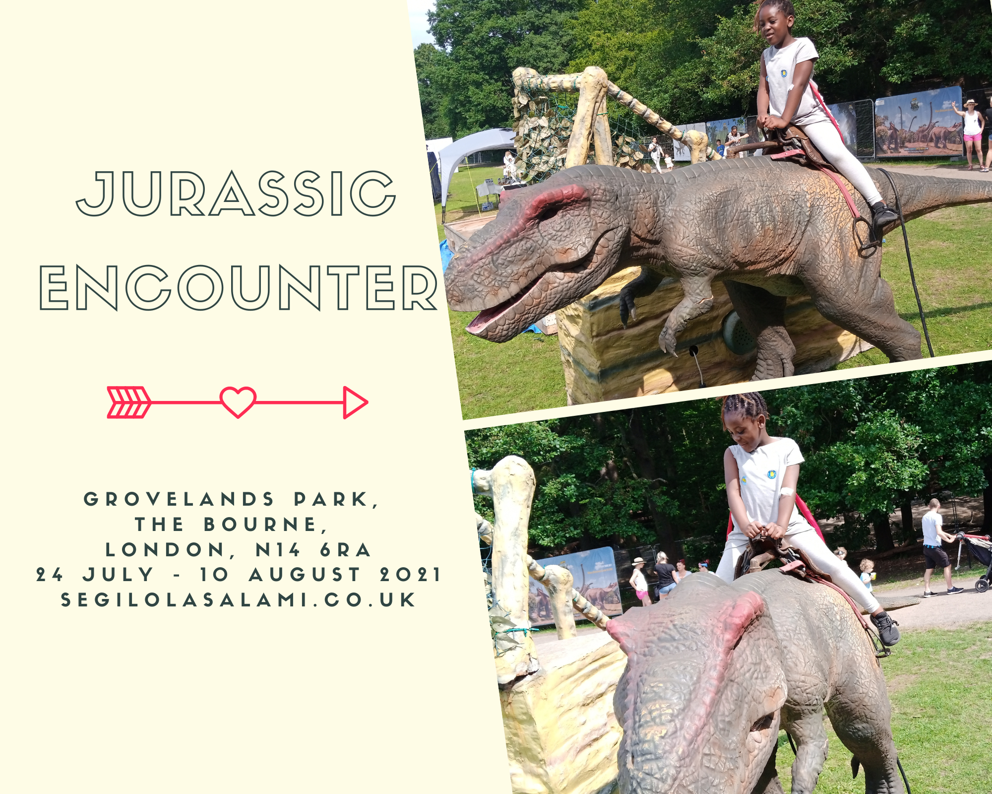 Places to visit with your child in London - JURASSIC ENCOUNTER LONDON 2021