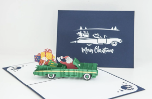 quirky christmas 2021 gift guide with a pop-up christmas card