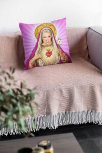 Sainted Christmas Cushion christmas 2021 gift guide for everyone